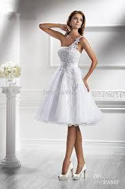 robe de mariã e courte pas cher vente en gros pas cher 2013 une épaule robe de mariée courte kami