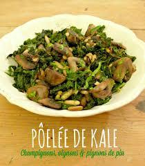 cuisiner chou pointu poêlée de kale chignons oignon pignons de pin citron