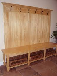entryway storage bench with coat rack three dimensions lab