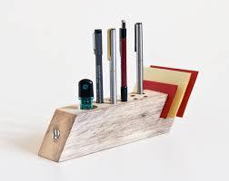 Modern Desk Organizer Desk Organizer Salvaged Wood Pen Holder Modern Office Organisation