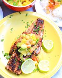 blackened salmon with mango avocado salsa ev u0027s eats