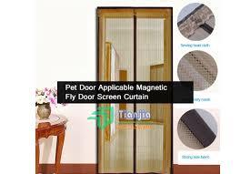 Magnetic Curtains For Doors Pet Door Screen Curtains Magnetic Fly Door Screen