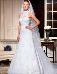 high neck halter wedding dress turmec high neck halter wedding dresses