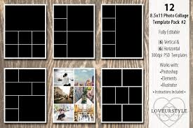 8 5 x11 photo album 8 5x11 photo album template pack 2 templates creative market