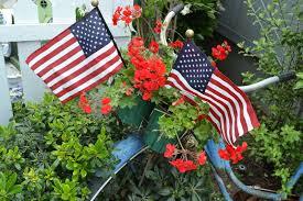 Porch Flags My Painted Garden Early Summer Garden Tour