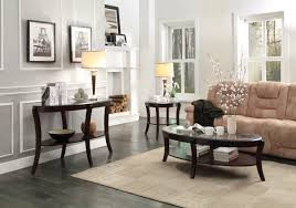 Livingroom Table Sets Homelegance Pierre 3 Piece Coffee Table Set W Glass Insert In