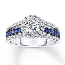 thin blue line wedding band sapphire engagement ring 1 ct tw diamonds 14k white gold thin blue