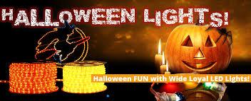 halloween fun with wide loyal led lights