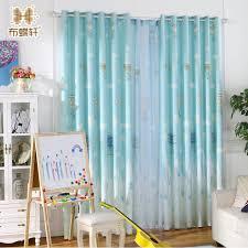 Sheer Blue Curtains Window Printed Balloon Curtain Living Room Screen Boys Sheer