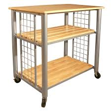 furniture movable kitchen island with shelves and wood top for