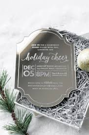 holiday invitation cards awesome etched mirror invitation holiday cheer invitation