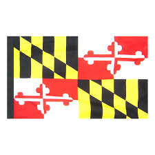 Colonial Flag Indoor And Parade Colonial Nyl Glo Maryland Flag Assorted Sizes