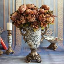 european style party silk flowers peony home plants craft wedding