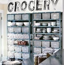 Kitchen Baskets Kitchen Cabinet Alternatives  Clever Ideas - Alternative to kitchen cabinets