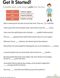 prefixes get it started worksheet education com