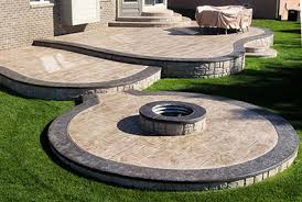 Small Backyard Deck Patio Ideas Stamped Concrete Patio Designs Ideas And Pictures