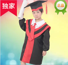 kindergarten cap and gown black tricot fabric kindergarten cap graduation gown in clothing