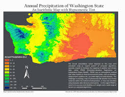 Topographic Map Of Washington by Gis Nouveau Isarithmic Maps