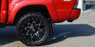 toyota tacoma rims and tires get lethal with this toyota tacoma on fuel wheels