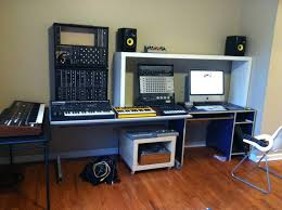 Studio Desk Diy Ikea Music Studio Desk Compact Hackers Furniture Recording Diy