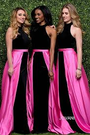 Pink And Black Bridesmaid Dresses Bridesmaid Dresses Jovani Fashions