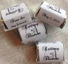 wedding favor labels 300 personalized monogram wedding candy wrappers