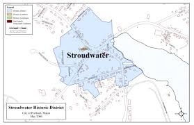 Map Of Portland Stroudwater Historic District Portland Me