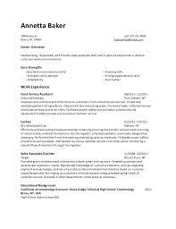 Costco Resume Examples by Baker Resume Haadyaooverbayresort Com