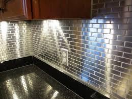 metallic kitchen backsplash kitchen installing metallic kitchen backsplash ideas metal