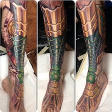 biomechanical tattoo for knee biomechanical tattoos inked magazine