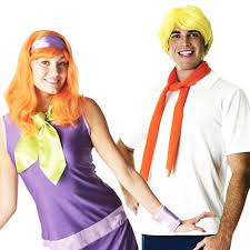 Fred Daphne Halloween Costumes Scooby Doo Daphne U0026amp Fred Couple Fancy Dress Costume Mens