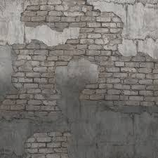 concrete with exposed brick wallpaper mural walls republic