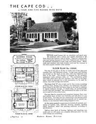 1940s cape cod floor plans sears homes 1933 on with 1934 13354a