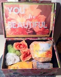 thinking of you care package mystery you are beautiful box care package college care