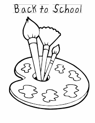 coloring page school top 81 paintbrush coloring pages free coloring page