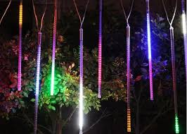 led meteor shower tube lights rgb blue led meteor shower rain tube lights 100 240v 10pcs set