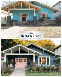craftsman bungalow before u0026 after hgtv u0027s urban oasis giveaway 2017