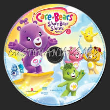 care bears share bear shines dvd label dvd covers u0026 labels