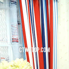 red white and blue curtains blue red and white striped curtains