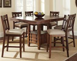 counter high dining room sets steve silver bolton 7 piece counter height dining set with storage