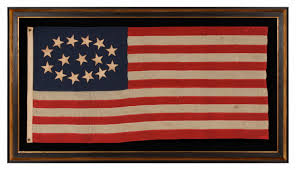 United States Flag 1861 Jeff Bridgman Antique Flags And Painted Furniture Especially