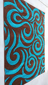 Area Rugs With Turquoise And Brown Royal Collection Turquoise Blue Brown Contemporary