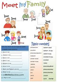 meet my family english pinterest my family families and