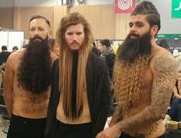 bart extensions psbattle bearded men at the festival of hairdressing in