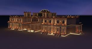 beach villa one qatar lighting design visual energy