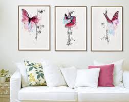 Butterfly art print French art print butterfly wall art