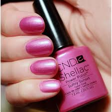 cnd creative nail design shellac power polish sultry sunset