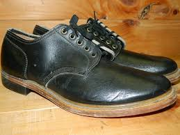 s outdoor boots in size 12 1960 s smooth black leather shoes s size 12 dead stock never