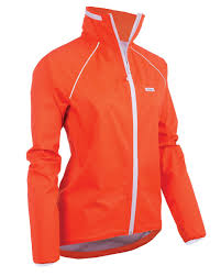 orange cycling jacket ground effect she shell waterproof cycling jacket