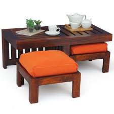 Exotic Coffee Tables by Coffee Table With Stools Invites More Friends To Hang Out Homesfeed